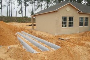 installing septic drain fields