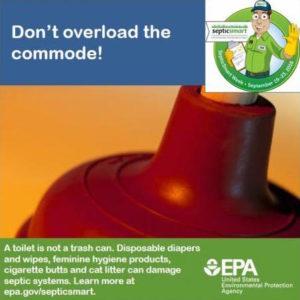 do not flush septic rules