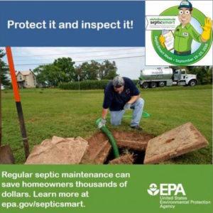 inspect pump septic tank
