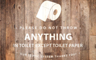 septic tank bathroom sign