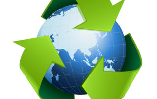 Recycle symbol. The Biosolids Program recycles sewage for land use.