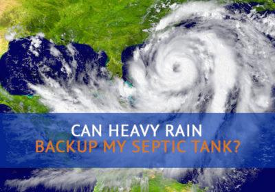 heavy rain septic tank