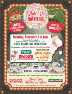 Light Up Montverde Holiday Event near Clermont, FL