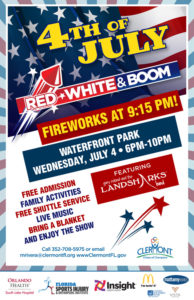 Summer Events in Clermont - Red, White & Boom in Clermont, FL