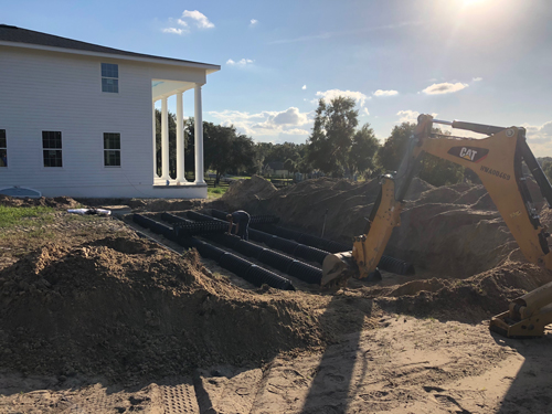 septic services in Clermont, FL; drain field installation