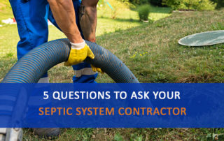 Questions to Ask Your Septic System Contractor, Technician pumping a septic tank