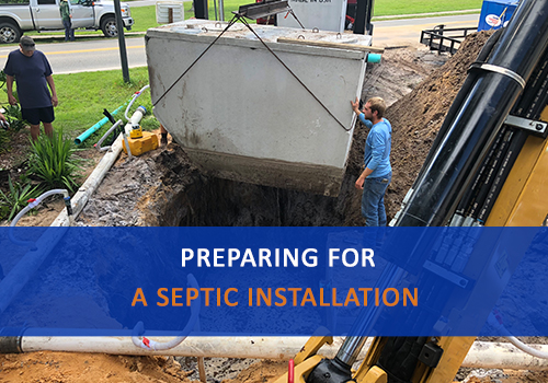 Image of a Septic Tank Installation